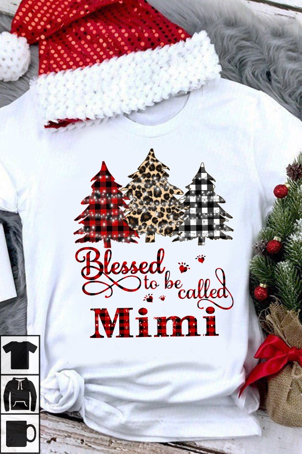 Blessed To Be Called Mimi Women's Funny Christmas Shirts Size S-5XL