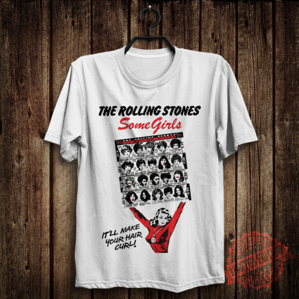 The Rolling Stones Some Girls Vintage Rock Band White T-Shirt Size S-5XL