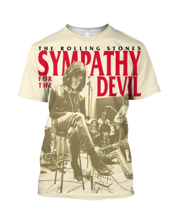 The Rolling Stones Sympathy For the Devil 3D Print T-Shirt All Sizes S-5XL