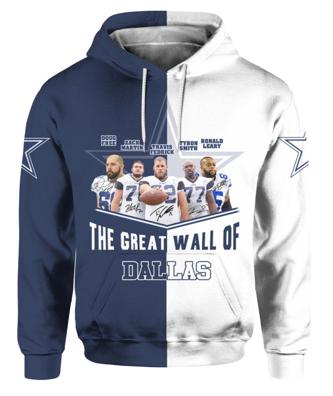 Dallas Cowboy Player The Great Wall Of Dallas 3d Full Printed Shirt 3d Graphic Printed Tshirt Hoodie Size S-5XL