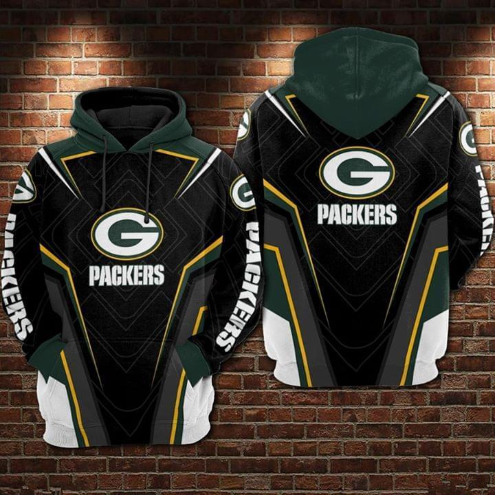 Green Bay Packers Green Fan 3d Hoodie 3d Graphic Printed Tshirt Hoodie Size S-5XL