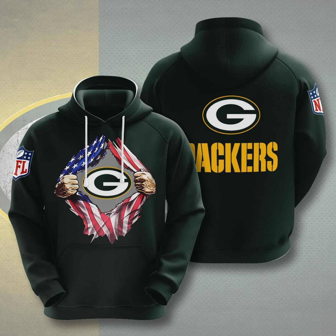 Green Bay Packers Nfl American Ripped 3d Printed Hoodie 3d 3d Graphic Printed Tshirt Hoodie Size S-5XL