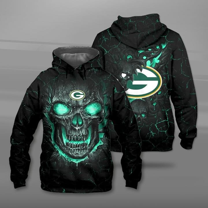 Lava Skull Green Bay Packers 3d Printed Hoodie 3d 3d Graphic Printed Tshirt Hoodie Size S-5XL