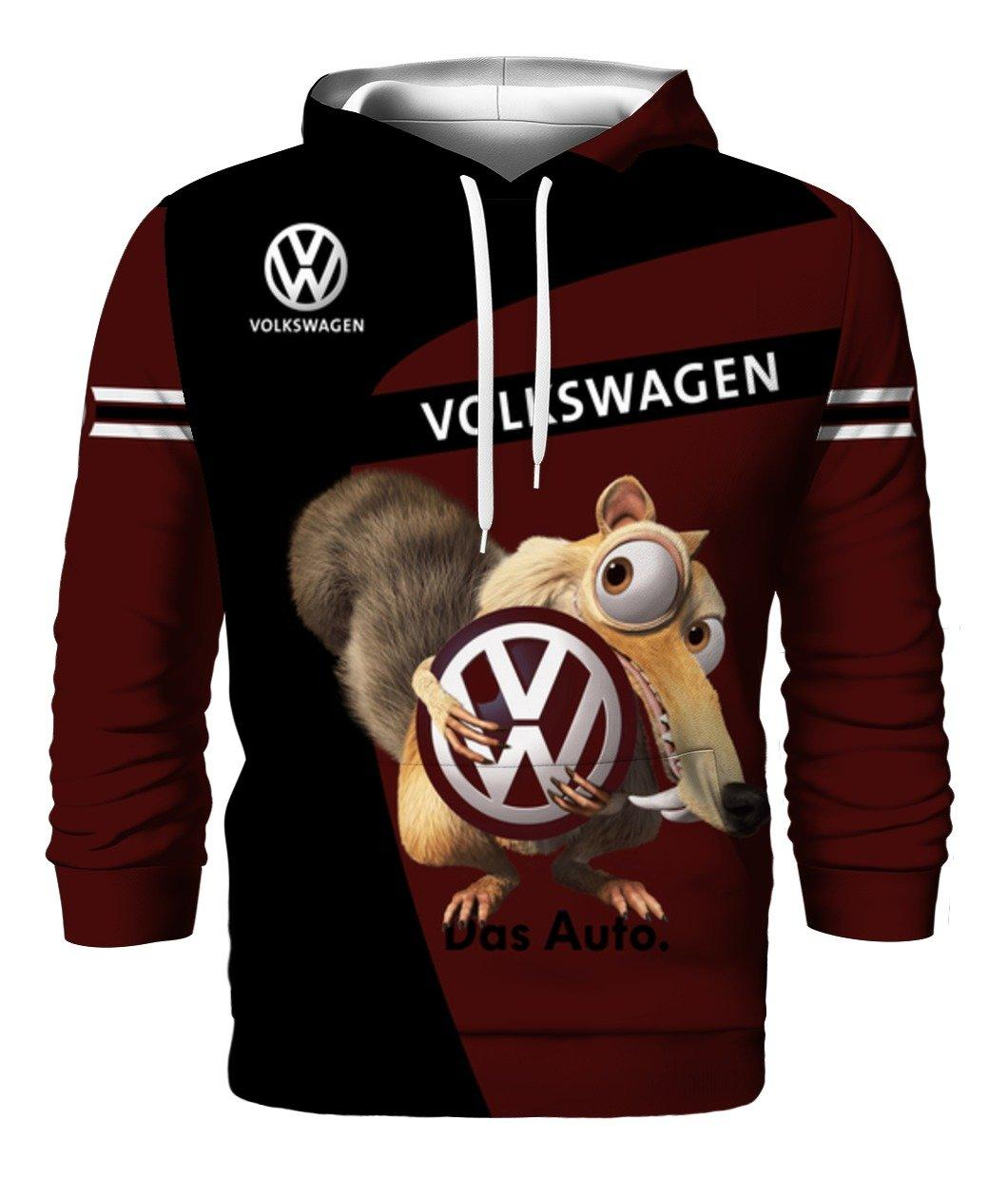 Volkswagen Scrat Squirrel Ice Age Full 3d 3d Graphic Printed Tshirt Hoodie Size S-5XL